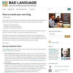 How to create your own blog