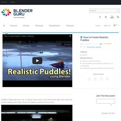 How to Create Realistic Puddles