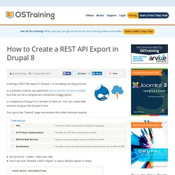 How to Create a REST API Export in Drupal 8