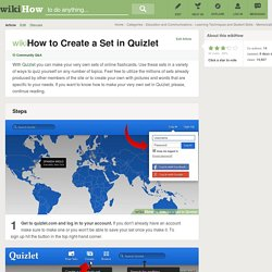 How to Create a Set in Quizlet: 6 Steps