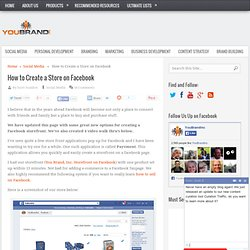 How to Create a Store on Facebook | You Brand, Inc.