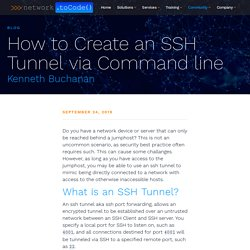 How to Create an SSH Tunnel via Command line