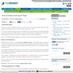 How to Create a Viral Launch Page