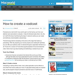 How to create a vodcast
