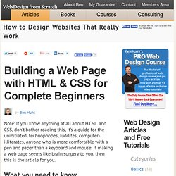 How to Create Your First Web Page