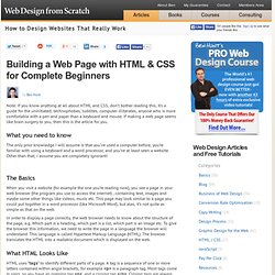 How to Create Your First Web Page Using HTML and CSS