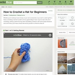 How to Crochet a Hat for Beginners: 11 Steps