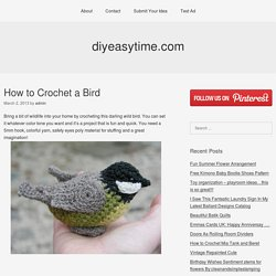 How to Crochet a Bird