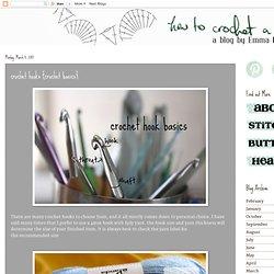 crochet hooks {crochet basics}