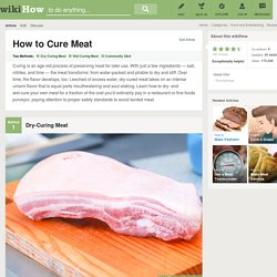How to Cure Meat