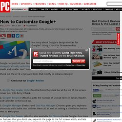 How To Customize Google+