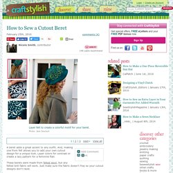 How to Sew a Cutout Beret