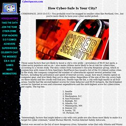 How Cyber-Safe Is Your City?