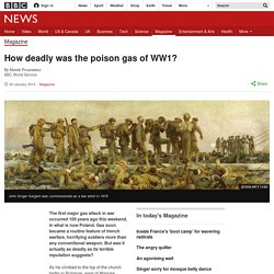 How deadly was the poison gas of WW1?