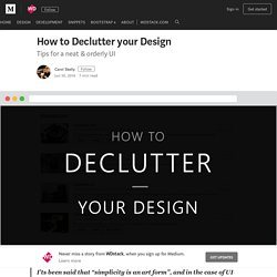 How to Declutter your Design – WDstack