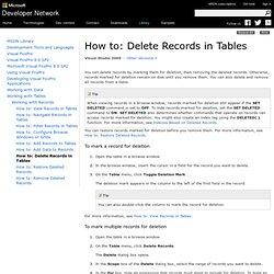 Deleting Records
