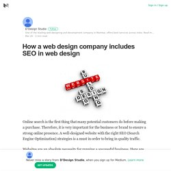 How a web design company includes SEO in web design