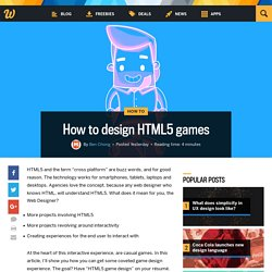 How to design HTML5 games