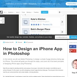 How to Design an iPhone App in Photoshop