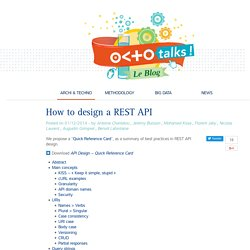 How to design a REST API