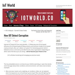 How IOT Can Detect Corruption