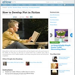 How to Develop Plot in Fiction