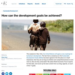 How can the development goals be achieved?
