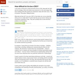 Answer to How difficult is it to be a CEO?