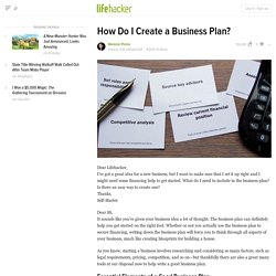 How Do I Create a Business Plan?