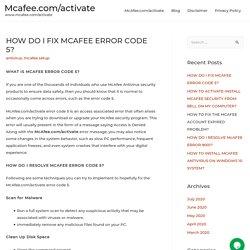 HOW DO I FIX MCAFEE ERROR CODE 5?