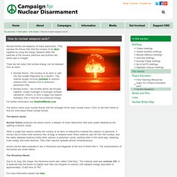 How do nuclear weapons work?