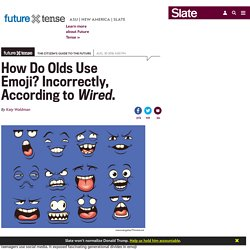 How do olds use emoji?