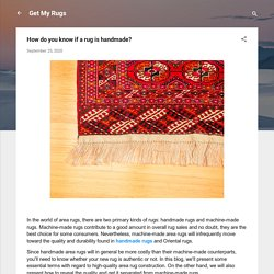 How do you know if a rug is handmade?