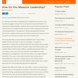 How Do You Measure Leadership?