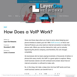 How Does a VoIP Work?