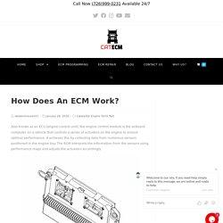 How Does An ECM Work?