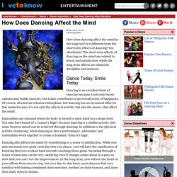 How Does Dancing Affect the Mind