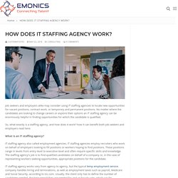 How Does IT Staffing Agency Work