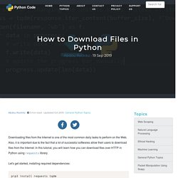 How to Download Files in Python - Python Code