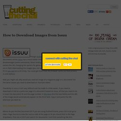 How to Download Images from Issuu