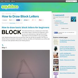 How to Draw Block Letters
