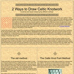 2 Ways to Draw Celtic Knotwork