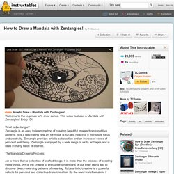 How to Draw a Mandala with Zentangles!