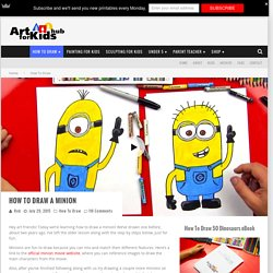 How To Draw A Minion - Art for Kids Hub