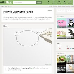 How to Draw Emo Panda: 8 steps (with video)