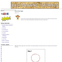 How to Draw Tigger