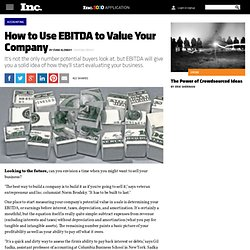 How to Use EBITDA to Value Your Company