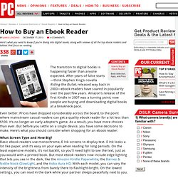 How to Buy an Ebook Reader - How to Buy an eBook Reader