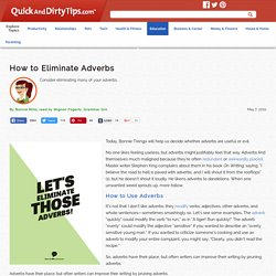 How to Eliminate Adverbs