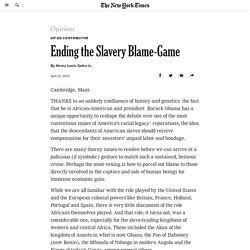 How to End the Slavery Blame-Game
